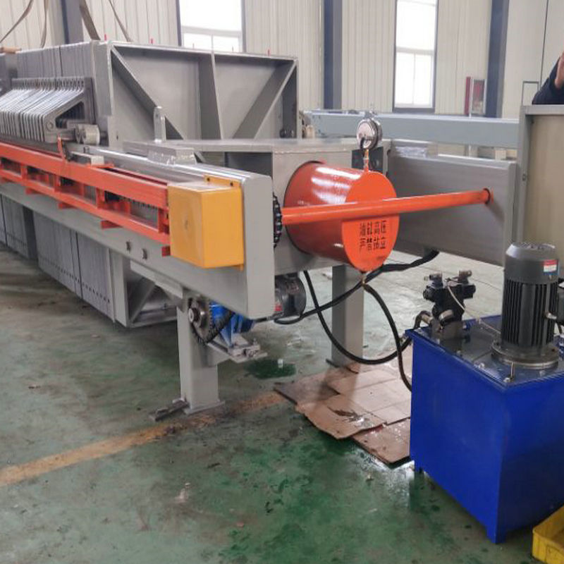 Automatic Washing Sludge Filter Press With convey table