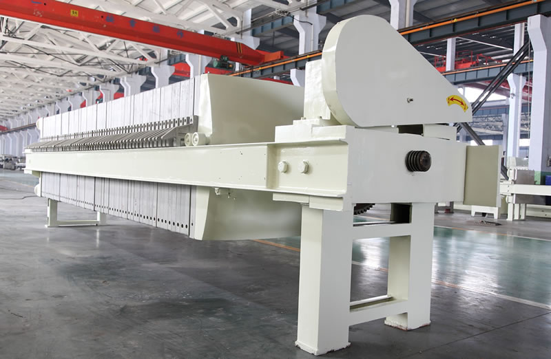 Cloth Washing Chamber Membrane Filter Press With Motor