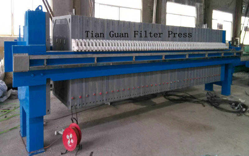 PLC Control Hydraulic Filter Press Used Cast Iron